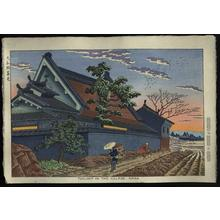 藤島武二: Twilight in the Village, Nara - Japanese Art Open Database
