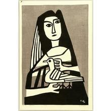 Fujishima Takeji: Woman and a Pigeon - Japanese Art Open Database