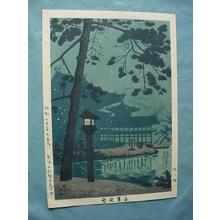 Fujishima Takeji: Fireflies at Byodo-In Temple — 平等院蛍 - Japanese Art Open Database