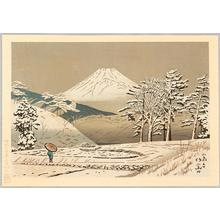 Fujishima Takeji: Mt Fuji from Koizumi - Japanese Art Open Database