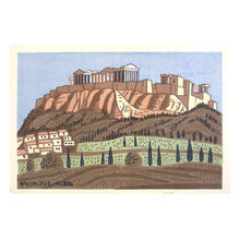 Fujishima Takeji: Athens, Greece — ギリシャ アテネ - Japanese Art Open Database