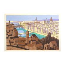 Fujishima Takeji: Florence, italy — イタリー フローレンス - Japanese Art Open Database