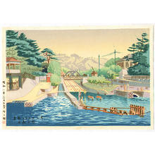 Fujishima Takeji: Early Summer at Incline — インクライン初夏 - Japanese Art Open Database
