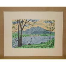 Fujishima Takeji: Hokkaido Akanko — 北海道阿寒湖 - Japanese Art Open Database