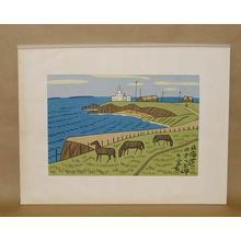 Fujishima Takeji: Hokkaido Cape Sappu — 北海道のさっぷ岬 - Japanese Art Open Database
