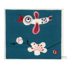 Azechi Umetaro: A Bird Flying Over A Cherry Tree Blossom - Japanese Art Open Database