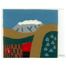 Azechi Umetaro: A Mountain In The Japanese Alps - Japanese Art Open Database