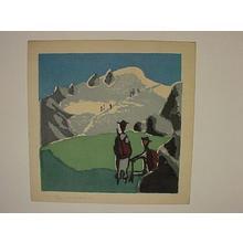 Azechi Umetaro: Climbing the Mountain - Japanese Art Open Database