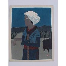 Azechi Umetaro: Farm Woman - Japanese Art Open Database