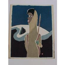 Azechi Umetaro: Woman Mountain Climber - Japanese Art Open Database