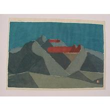 Azechi Umetaro: unknown- red mountain - Japanese Art Open Database
