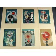 Azechi Umetaro: Six print set - Japanese Art Open Database