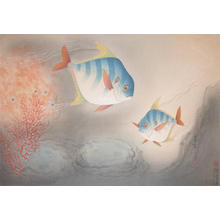 大野麦風: Angle Fish - Japanese Art Open Database
