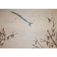 Bakufu Ohno: Flying Fish - Japanese Art Open Database