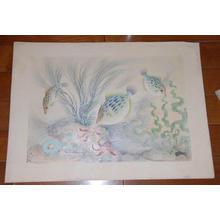 大野麦風: Kawahagi — カワハギ - Japanese Art Open Database
