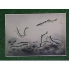 Bakufu Ohno: Loach — ドジョウ - Japanese Art Open Database