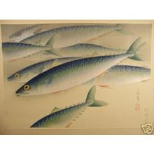 Bakufu Ohno: Saba- Mackerels - Japanese Art Open Database