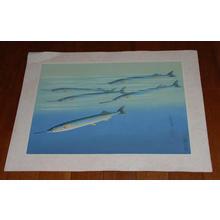 Bakufu Ohno: Sayori- Japanese Needlefish — サヨリ - Japanese Art Open Database