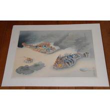 大野麦風: Scorpion Fish- Okoze — オコゼ - Japanese Art Open Database