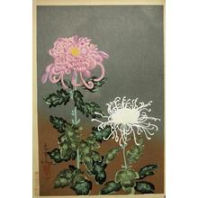 Bakufu Ohno: Chrysanthemums- Type 2 - Japanese Art Open Database