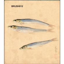 大野麦風: Dried anchovies - Japanese Art Open Database