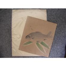 Bakufu Ohno: Fish and leaves - Japanese Art Open Database