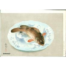 Bakufu Ohno: Fish and plate - Japanese Art Open Database