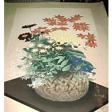 大野麦風: Flowers In Bamboo (Autumn) - Japanese Art Open Database
