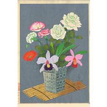 大野麦風: Flowers In Vase (Summer) - Japanese Art Open Database