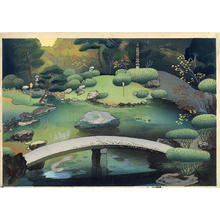Bakufu Ohno: Japanese garden in Autumn - Emperor's Garden 2 — 秋の庭園風景 - Japanese Art Open Database
