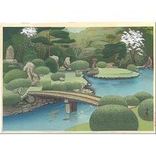 Bakufu Ohno: Kurodani Garden in Kyoto- Spring - Japanese Art Open Database