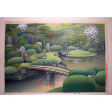 Bakufu Ohno: Kurodani Garden in Kyoto- Spring - Japanese Art Open Database