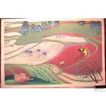 大野麦風: Planting rice - Japanese Art Open Database