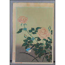 大野麦風: Red Rose (later restrike) - Japanese Art Open Database