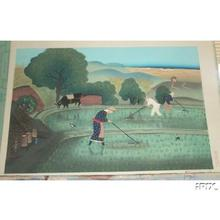 大野麦風: Rice Weeding- Variant 1 - Japanese Art Open Database