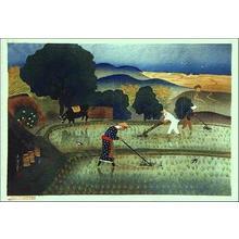 大野麦風: Rice paddy - Japanese Art Open Database