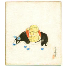 大野麦風: Toy Bull - Japanese Art Open Database