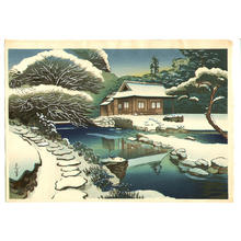 大野麦風: Unknown, snow scene - Japanese Art Open Database