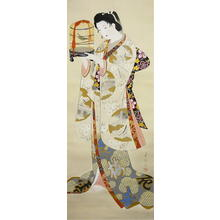 Biho: First warbling heard in the New Year — 初音 - Japanese Art Open Database