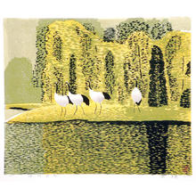Boyi Hao: Autumn of Lakeside - Japanese Art Open Database