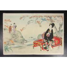 豊原周延: Autumn picnic - Japanese Art Open Database