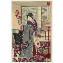 豊原周延: 1- Matsuyama Evening - Japanese Art Open Database