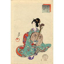 豊原周延: Gekkin (Moon guitar) - Japanese Art Open Database