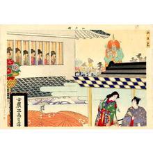 豊原周延: A view of an open air theatre during the San-no Festival - Japanese Art Open Database
