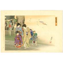 豊原周延: Going to a Temple - Japanese Art Open Database