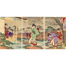 豊原周延: Cherry Blossoms at night - Japanese Art Open Database
