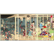 Toyohara Chikanobu: Tanabata Festival — 七夕之図 - Japanese Art Open Database