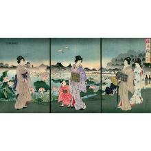 Toyohara Chikanobu: Shinobazu Pond - Japanese Art Open Database