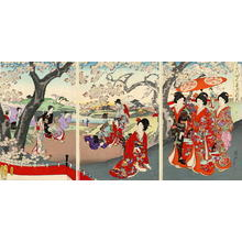 Toyohara Chikanobu: Cherry Blossoms Party — Chiyoda Ooku Ohanami - Japanese Art Open Database
