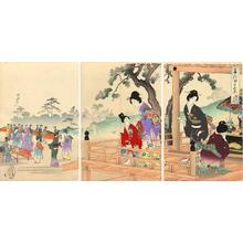 Toyohara Chikanobu: Buddha Festival — Shaka-moude - Japanese Art Open Database